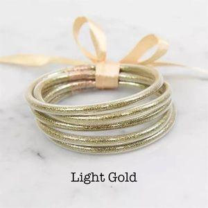 BANGLES, Multi-Layer  Light Gold jelly Bracelets